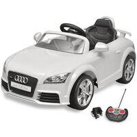 Audi TT RS elektromos kisautó távirányítóval fehér