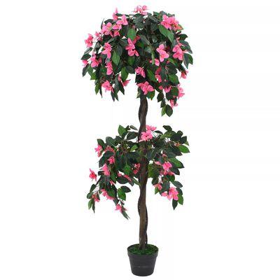 vidaXL zöld/rózsaszín, cserepes műrododendron 155 cm