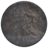 vidaXL fekete márvány asztallap Ø50 x 2,5 cm