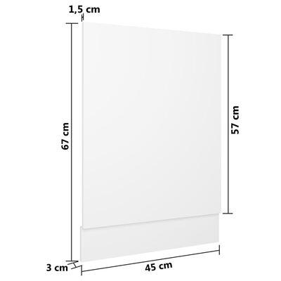 vidaXL fehér forgácslap mosogatógép-panel 45 x 3 x 67 cm