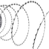vidaXL NATO pengésdrót-tekercs horganyzott acélból 300 méter