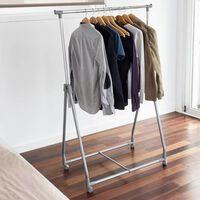 424168 Storage solutions 4 kerekű fém ruhaállvány