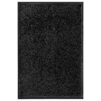 vidaXL fekete kimosható lábtörlő 40 x 60 cm