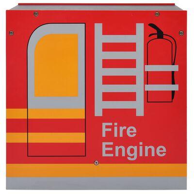 vidaXL 3-részes tűzoltóautó formájú gyerekasztal- és székkészlet