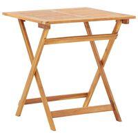 vidaXL tömör akácfa összecsukható kerti asztal 70 x 70 x 75 cm