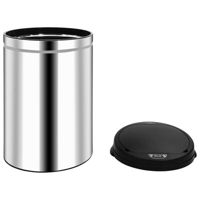 vidaXL automata érzékelős rozsdamentes acél szemeteskuka 30 L