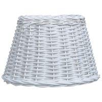 vidaXL fehér fonott vessző lámpabúra 45 x 28 cm