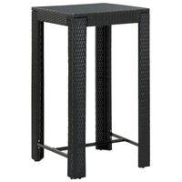 vidaXL fekete polyrattan kerti bárasztal 60,5 x 60,5 x 110,5 cm