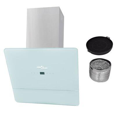 vidaXL fehér edzett üveg páraelszívó 600 mm