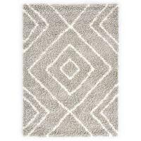 vidaXL homokszínű-bézs bozontos PP berber szőnyeg 160 x 230 cm