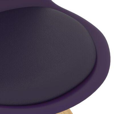vidaXL 5 részes lila étkezőszett