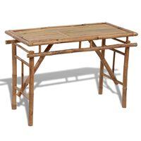 vidaXL bambusz összecsukható kerti asztal 120 x 50 x 77 cm