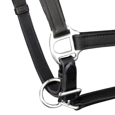 Valódi bőr állítható stabil kötőfék Full fekete