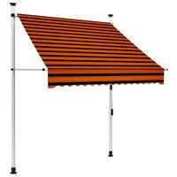 vidaXL narancssárga és barna kézzel feltekerhető napellenző 150 cm