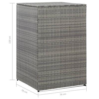vidaXL antracitszürke polyrattan kukatároló 1 db kukához 76x78x120 cm