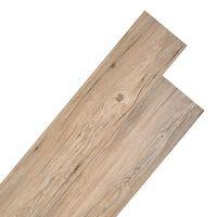 vidaXL barna tölgy színű PVC padlódeszkák 4,46 m² 3 mm