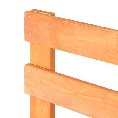 vidaXL barna tömör fenyőfa raklap ágykeret 90 x 200 cm