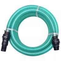 vidaXL zöld szívótömlő csatlakozókkal 4 m 22 mm