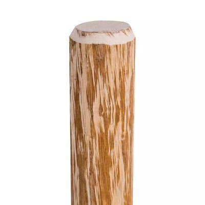 vidaXL 4 db kihegyezett mogyorófa kerítésoszlop 120 cm
