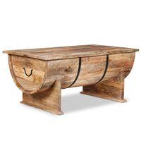 vidaXL tömör mangófa dohányzóasztal 88 x 50 x 40 cm