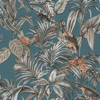 DUTCH WALLCOVERINGS kék paradicsommadaras tapéta