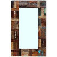 vidaXL tömör újrahasznosított fa tükör 80 x 50 cm