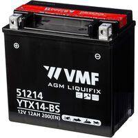 VMF Powersport Liquifix 12 V 12 Ah MF YTX14-BS akkumulátor