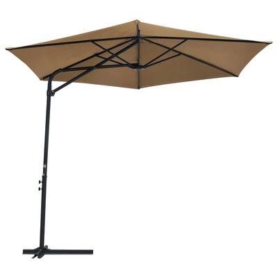 vidaXL tópszínű kültéri napernyő acélrúddal 300 cm