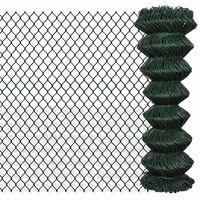 vidaXL zöld acél drótkerítés 1,25 x 15 m