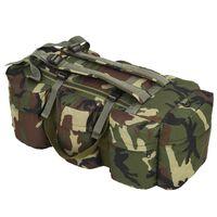 vidaXL 3 az 1-ben terepmintás katonai vászonzsák 120 L
