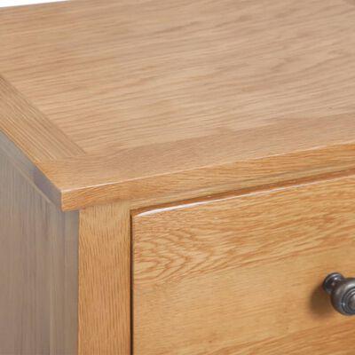 vidaXL tömör tölgyfa fiókos szekrény 45 x 32 x 115 cm