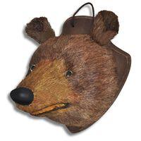 Falra Szerelhető Medve Fej Természetes Dekoráció