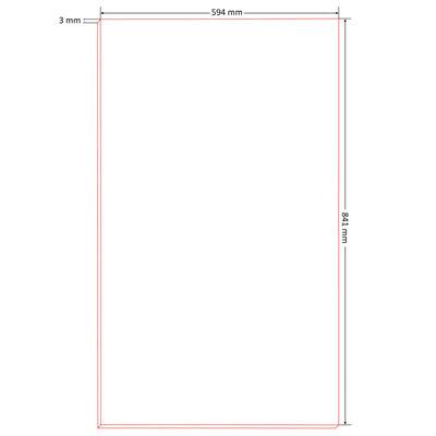 vidaXL 10 db DIN A1 méretű HDF plakátlap 841 x 594 x 3 mm