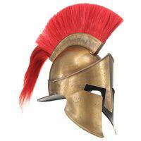 vidaXL sárgaréz színű antik görög harcos acélsisak LARP másolat