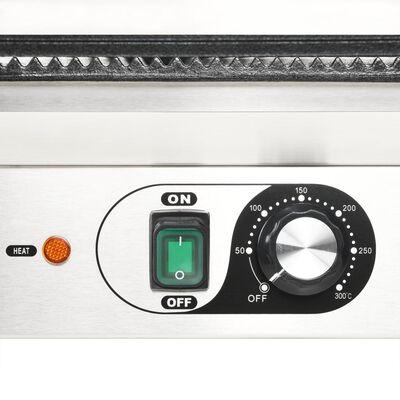 vidaXL dupla kontaktgrill rozsdamentes acélból 3600 W 58 x 41 x 19 cm