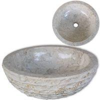 vidaXL krémszínű fürdőszobai mosdókagyló 40 cm