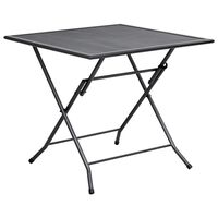 vidaXL antracitszürke acél összecsukható hálós asztal 80 x 80 x 72 cm