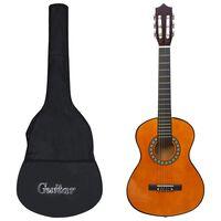 """vidaXL 8 darabos klasszikus gitár gyerek kezdőkészlet 1/2 34"""""""