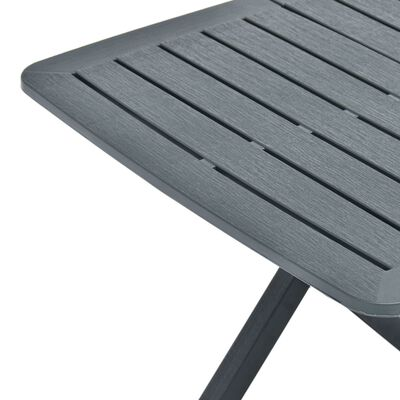 vidaXL zöld műanyag összecsukható kerti asztal 79 x 72 x 70 cm