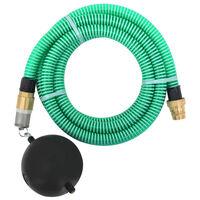 vidaXL zöld szívótömlő sárgaréz csatlakozókkal 7 m 25 mm