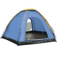 vidaXL 6 személyes kék és sárga sátor