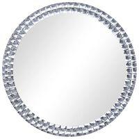 vidaXL ezüstszínű edzett üveg falitükör 70 cm