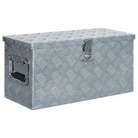 vidaXL ezüstszínű alumíniumdoboz 61,5 x 26,5 x 30 cm