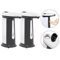 vidaXL 2 db automata szappanadagoló infravörös érzékelővel 800 ml
