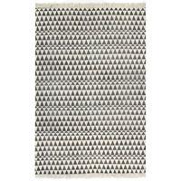 vidaXL fekete/fehér mintás kilim pamutszőnyeg 160 x 230 cm