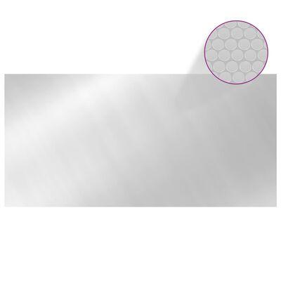 vidaXL ezüst polietilén medencetakaró 450 x 200 cm