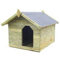 vidaXL impregnált fenyőfa kerti kutyaház felnyitható tetővel