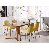 Étkezőasztal, HUXTER, Sötét Fa Színű, 180x90x75