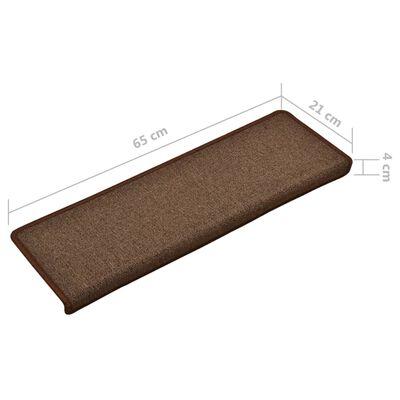 vidaXL 15 db barna lépcsőszőnyeg 65 x 25 cm