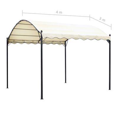 vidaXL bézsszínű szövet pavilontető 4 x 3 m